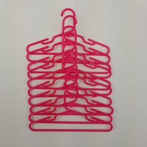 Other - Bundle of Pink Plastic Hangers (10)